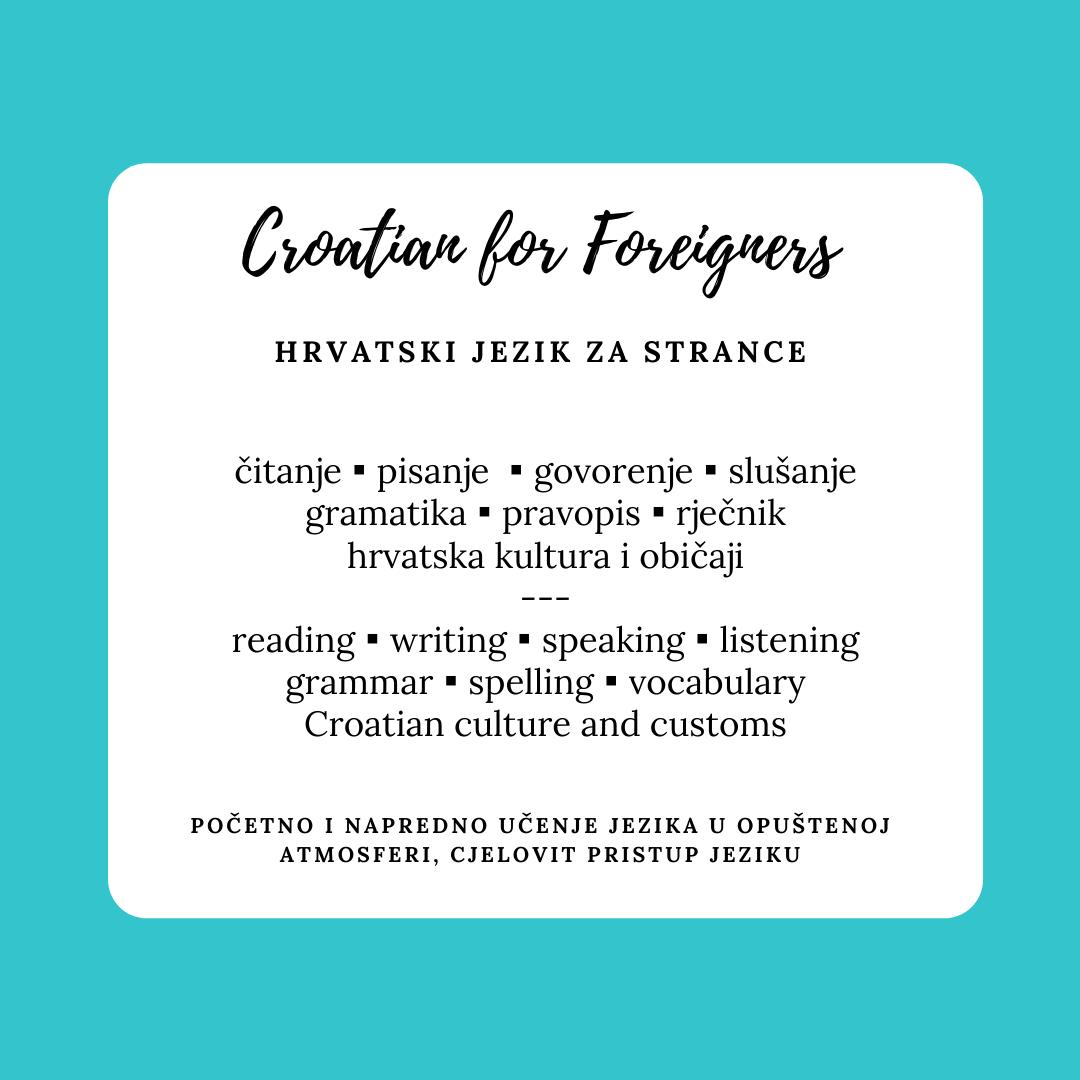 Obrnuta učionica - Croatian for Foreigners