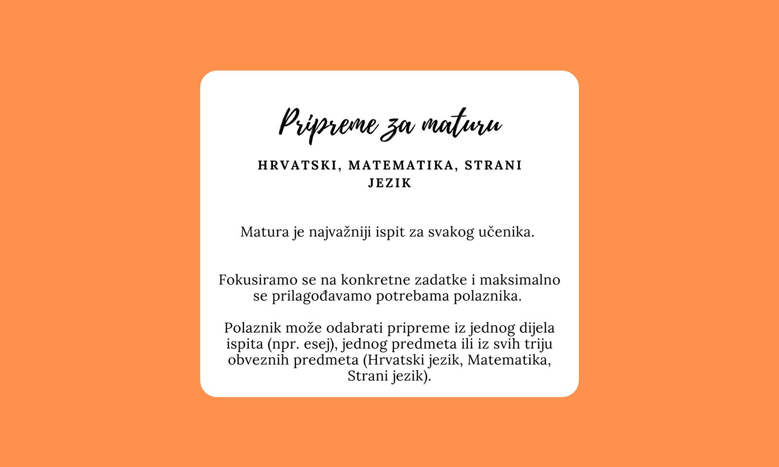 Obrnuta učionica - Novosti - Pripreme za maturu